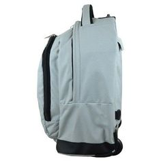 NBA Brooklyn Nets Mojo Premium Wheeled Backpack - Grey, Durable
