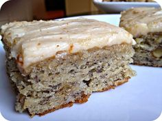 Banana Bread Bars with Brown Butter Frosting ~ Recipe of today