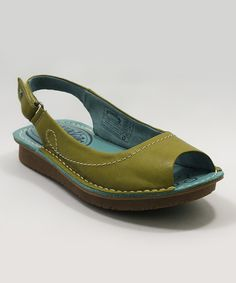 How cute are these??? groundhog Lime Toss Slingback