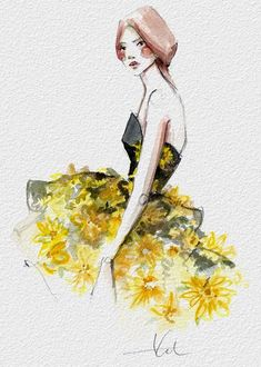 Le illustrazioni di Katie Rodgers sono un vero sogno. I vestiti che disegna sembrano così reali da dare l'impressione di poter essere indossati.