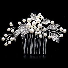 Wedding Hair Clip Wedding comb Rhinestone Bridal by LILYINWHITE