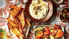 45 Favorite Side Dishes, Like Our Garlic-and-Herb Chickpea Fries with Whipped Feta Side Dishes For Salmon, Best Side Dishes, Side Dish Recipes, Shrimp Side Dish, Chickpea Fries, Whipped Feta, How To Eat Paleo, Salmon Recipes, Tasty Dishes