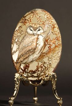 My Owl Barn: Artwork Carved On Egg Shells: Christel Assante