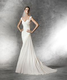 Bena, originelles Brautkleid mit V-Ausschnitt