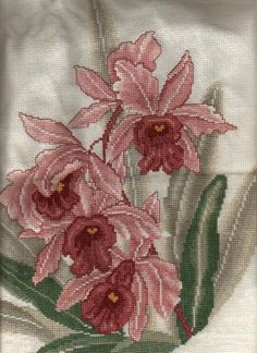 Cross Stitch Photo Album II: Ming Orchid (Front) - Stitched and Submitted by Just another stitcher