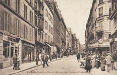 rue des Martyrs - Paris 9ème/18ème L'animation de la rue des Martyrs pas loin de l'avenue Trudaine, vers 1900.