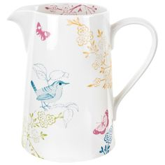 Pretty Portmeirion jug, the whole range is delightful! Double whammy of beautiful and lovely as it's Portmeirion, we went there last year and it was a lovely day out Nice Jugs, Mugs And Jugs, Kitchenware, Tableware, Kiss The Cook, Milk Jug, Milk Bottles, Cool Things To Buy, Stuff To Buy