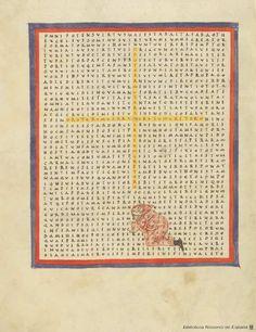 Liber de laudibus Sanctae Crucis. Rabanus Maurus, Arzobispo de Maguncia 784?-856 — Manuscrito — 901-1100? Word Games, Ink Art, Typewriter, Medieval, Poems, Catalog, Contemporary, Paper, Mainz