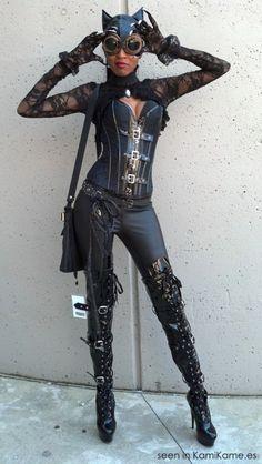 Steampunk Catwoman pretty hot!