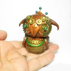 Steampunk Owl - mech - mechanical - industrial - sculpture - animal - bird  by DevilishDesigns