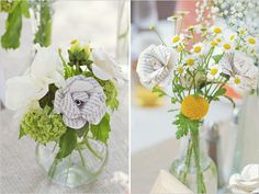 paper + real flowers!