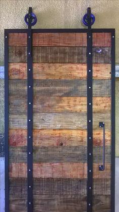 Puerta corrediza estilo industrial (industrial barn door) $4000