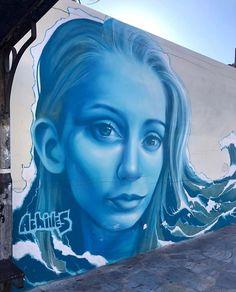 Street Wall Art, Street Art Graffiti, 3d Optical Illusions, Graffiti Murals, Projection Mapping, Samar, Urban Art, Greece, Sculptures
