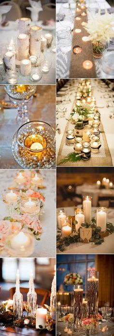 creative candlelights wedding centerpieces inspiration