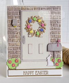 card door spring easter bunny wreath eggs Happy Easter mailbox home Taylored Expressions