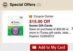 Safeway: $60 worth of iTunes gift cards for only $36-FOR people I like FROM a 'people I like'.