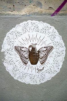 Smot - street art - paris 20, rue de l'ermitage (juin 2013)