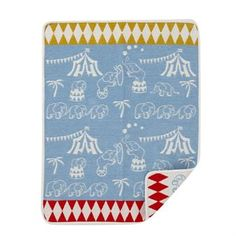 The kids blanket Elephant circus from Klippan Yllefabrik is made of soft cotton…