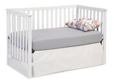 Amazon.com : Stork Craft Hillcrest Fixed Side Convertible Crib, White : Baby