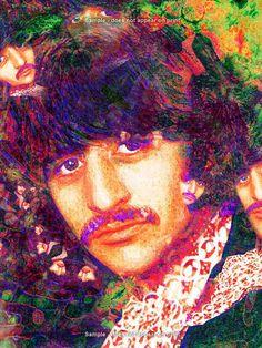Ringo Starr - EisnerArt Music Artwork, Art Music, Music Artists, John Lennon Beatles, The Beatles, Ringo Starr, Concert Posters, Pop Art, Artist Art