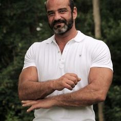 Muscle Bear Men, Older Men, Handsome, Hot, Mens Tops, T Shirt, Tee Shirt, Tee