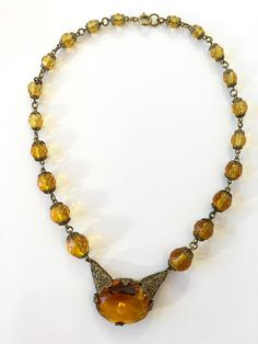 Hey, I found this really awesome Etsy listing at https://www.etsy.com/listing/290794335/vintage-art-deco-czech-glass-necklace