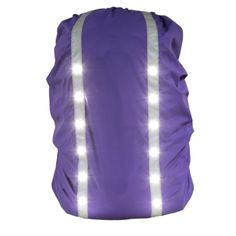 12LED Safety Security Waterproof Backpack Bag Rain Cover 30-40L
