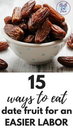 Do you know that eating date fruit can help you have an easier labor? But how do you eat dates? There are LOTS of ways! Check out these 15 date fruit recipes from smoothies to snacks to dinner recipes that are delicious and good for you! Date Recipes For Pregnancy, Dates During Pregnancy, Pregnancy Tips, Pregnancy Timeline, Pregnancy Calendar, Pregnancy Checklist, Pregnancy Clothes, Pregnancy Announcements, Foods To Avoid