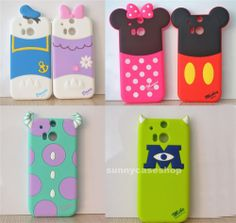 Cute Disney Cartoon Animals Soft Silicone Case cover for HTC ONE M8 M7 IPHONE