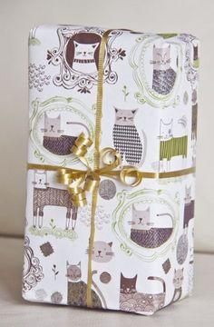 WRAP :: Vintage Cat Ecowrap - Ecojot - eco savvy paper products