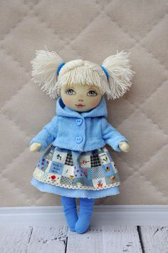 Textile doll decorative dollcollectible dolls  doll by NilaDolss