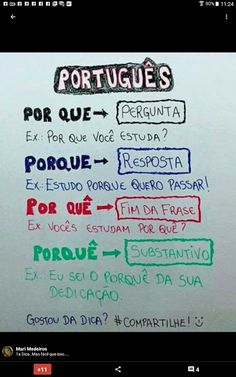 Build Your Brazilian Portuguese Vocabulary Learn Brazilian Portuguese, Portuguese Lessons, Portuguese Language, Study Hard, Studyblr, Study Notes, School Hacks, Study Motivation, Student Life