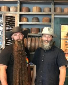 double troube - 2 beards and hats double troube - 2 beards and hats Long Beard Styles, Beard Styles For Men, Hair And Beard Styles, Hair Styles, Goatee Styles, Bad Beards, Grey Beards, Long Beards, Full Beard