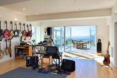 Modern Home Patio Music Studio Design