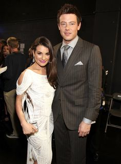 Lea Michele and Cory Monteith met up backstage at the 2012 People's Choice Awards in LA. RIP Cory Monteith