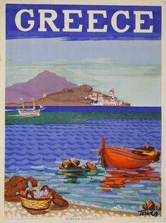 Παλιές αφίσες που προσκαλούν τουρίστες στη χώρα μας