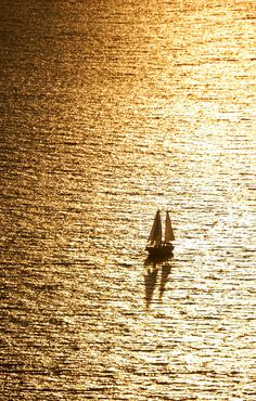 """Golden Sailing"" by Csilla Zelko, via 500px."