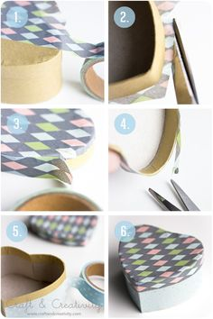 How to decorate a heart bow with washi tape DIY.