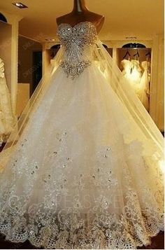 Buy Attractive beading Sweetheart lace-up watteau Train A-Line Wedding dress  Online, Dresswe.Com offer high quality fashion,Price: USD$412.99
