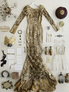 Absolutely STUNNING collection.  I imagine stepping into this dress would be like slipping on a skin of scales and imagining yourself a mermaid.  <3