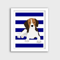 Dog Art  Beagle  Dog Print  Nursery Print  by KryderPrints on Etsy, $10.00