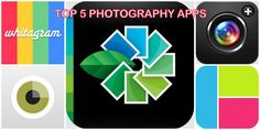 Top 5 Photography Apps!!