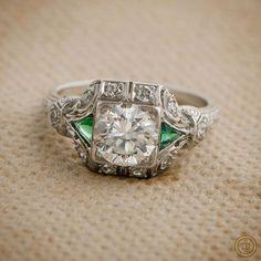 An Amazing Antique Diamond Engagement Ring by Estate Diamond Jewelry