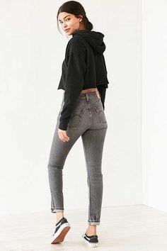 Levi s 501 Skinny Jean - Washed Black Black Jeans Outfit 282ef1780