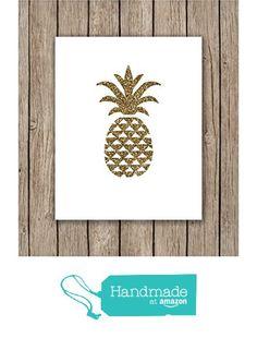 Gold Pineapple Print from LunaSavita http://www.amazon.com/dp/B016GC5UGY/ref=hnd_sw_r_pi_dp_6VQgwb1M2NE0D #handmadeatamazon