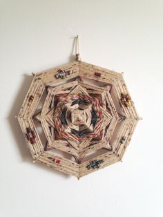 Handmade Ojo de Dios Wall Hanging by Houseworking on Etsy