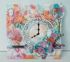 Imaginarium Designs  love the texture and the chippies as well as the glitter twirly things