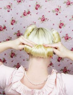 Housewife Wig with Hair Rollers Attached Rita Retro Scouse Mum Fancy Dress