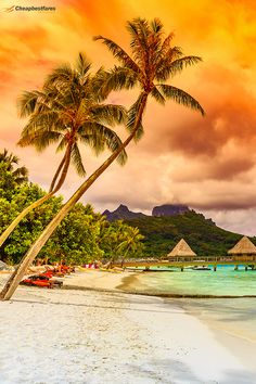 Bora Bora is a small South Pacific island northwest of Tahiti in French Polynesia. Photo By: Bora Bora, Tahiti, International Holidays, Bucket List Destinations, South Pacific, French Polynesia, Beautiful Islands, North West, Scenery