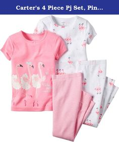 Carter's 4 Piece Pj Set, Pink Flamingo, 18 Months. Carter's is the leading brand of children's clothing, gifts and accessories in America, selling more than 10 products for every child born in the u.S. Their designs are based on a heritage of quality and innovation that has earned them the trust of generations of families.